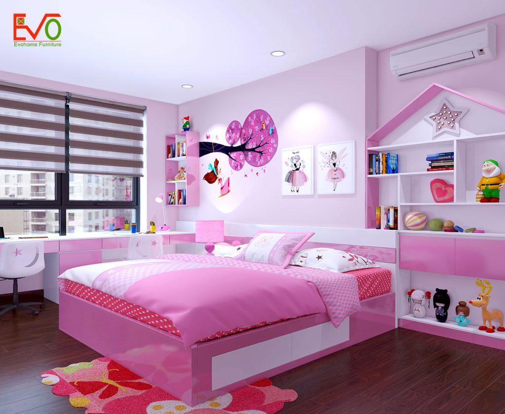 Giải pháp thiết kế nội thất phòng ngủ cho 2 bé diện tích nhỏ - Tiện nghi, thông thoáng4