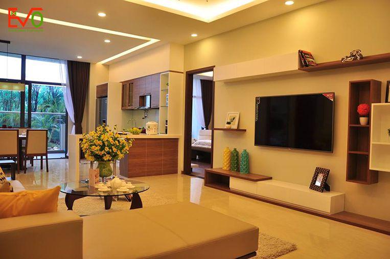Thi công nội thất căn hộ nhẹ nhàng, đơn giản, tinh tế 01