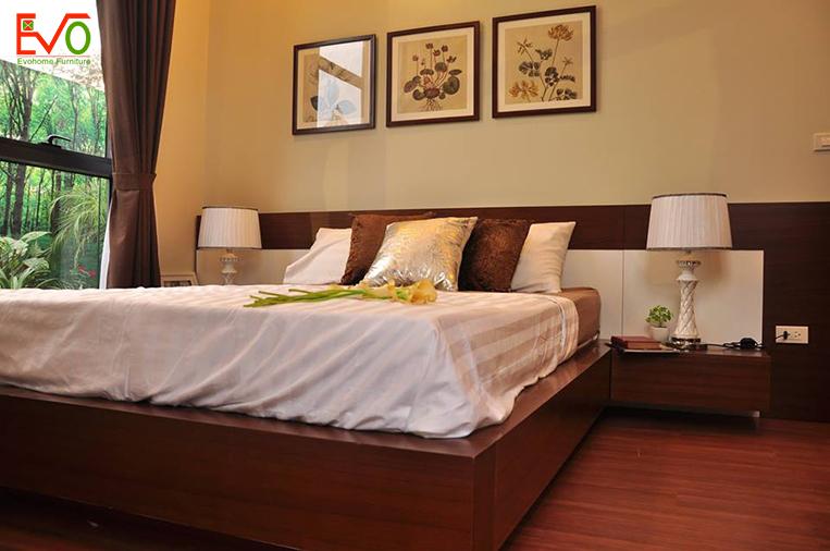 Thi công nội thất phòng ngủ Master đơn giản1