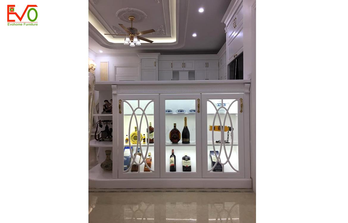 Thi công nội thất phòng bếp nhà phố 156 Lacasta văn phú phong cách cổ điển 2