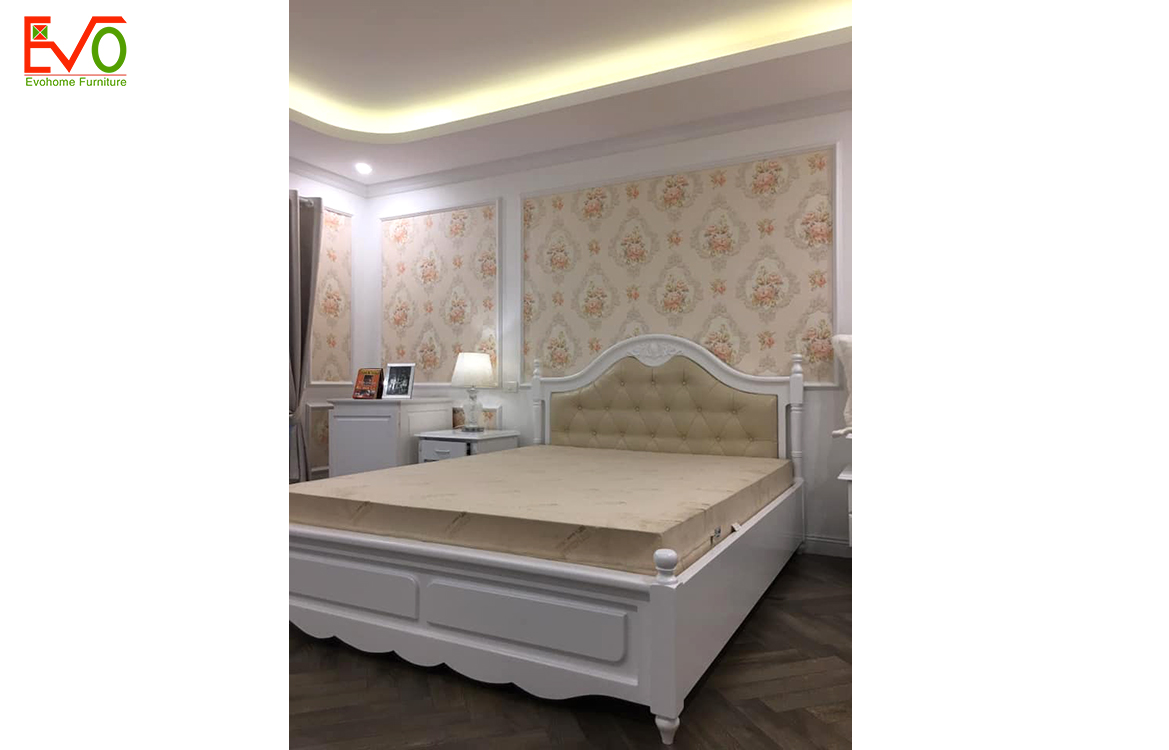 Thi công nội thất phòng ngủ nhà phố 156 Lacasta văn phú phong cách cổ điển