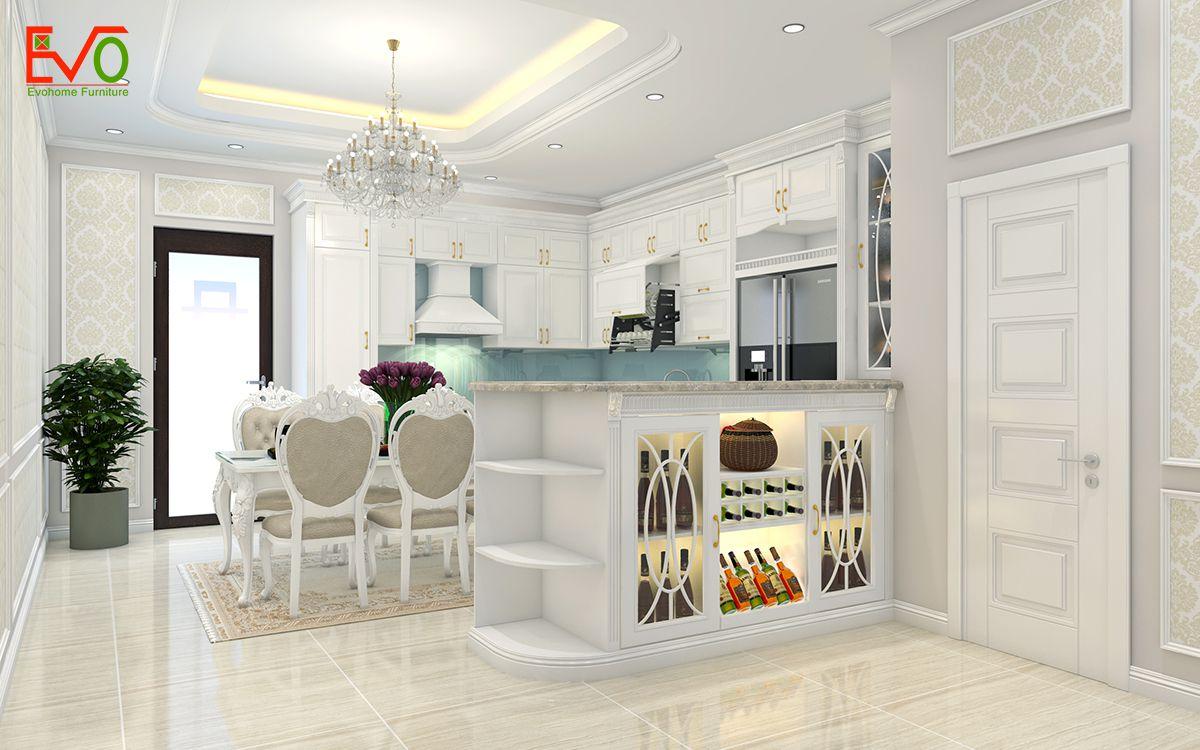 thiết kế nội thất nhà phố 156 lacasta Văn Phú phong cách cổ điển 01