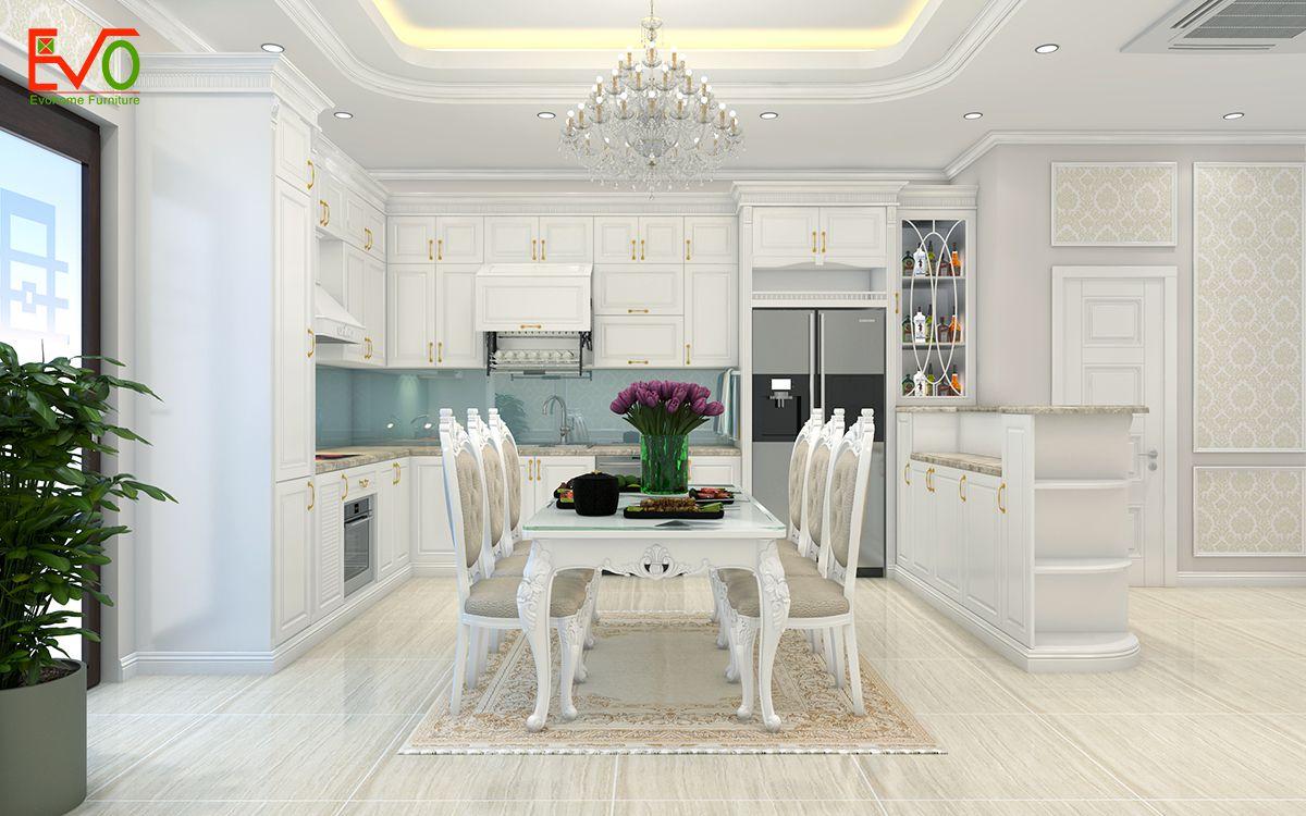 thiết kế nội thất nhà phố 156 lacasta Văn Phú phong cách cổ điển 02