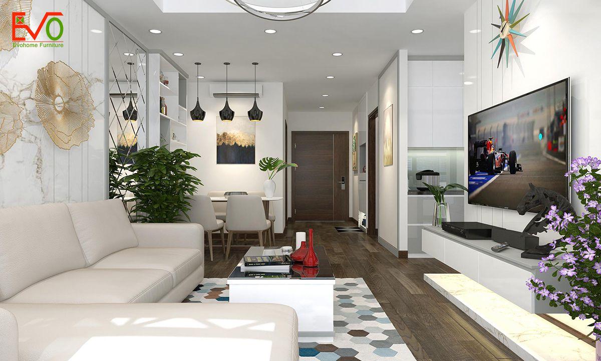 thiết kế nội thất căn hộ chung cư Green pearl - 378 Minh Khai phong cách hiện đại 05