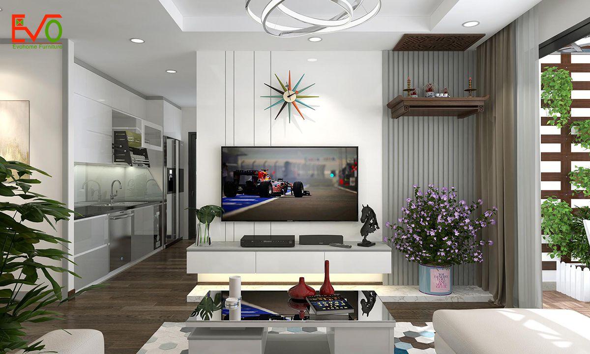 thiết kế nội thất căn hộ chung cư Green pearl - 378 Minh Khai phong cách hiện đại 04