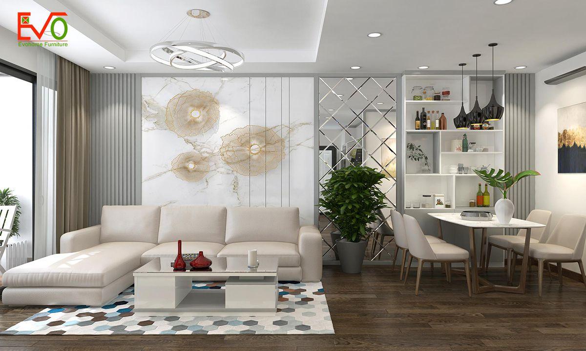 thiết kế nội thất căn hộ chung cư Green pearl - 378 Minh Khai phong cách hiện đại 0 3