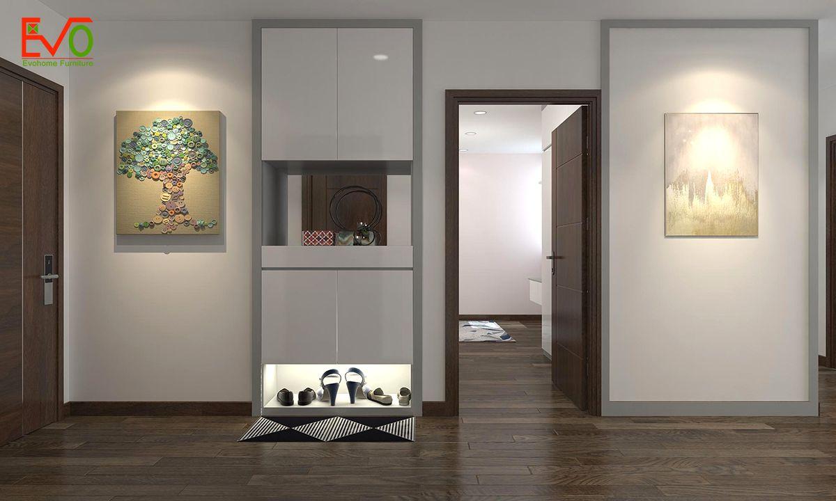 thiết kế nội thất căn hộ chung cư Green pearl - 378 Minh Khai phong cách hiện đại 01