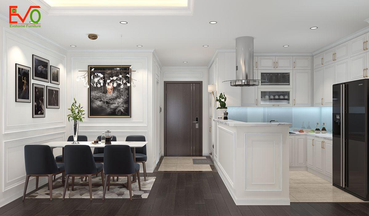 Thiết kế nội thất căn hộ homland tân cổ điển nhẹ nhàng 02