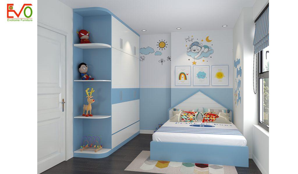 Giải pháp thiết kế nội thất phòng ngủ cho 2 bé diện tích nhỏ - Tiện nghi, thông thoáng