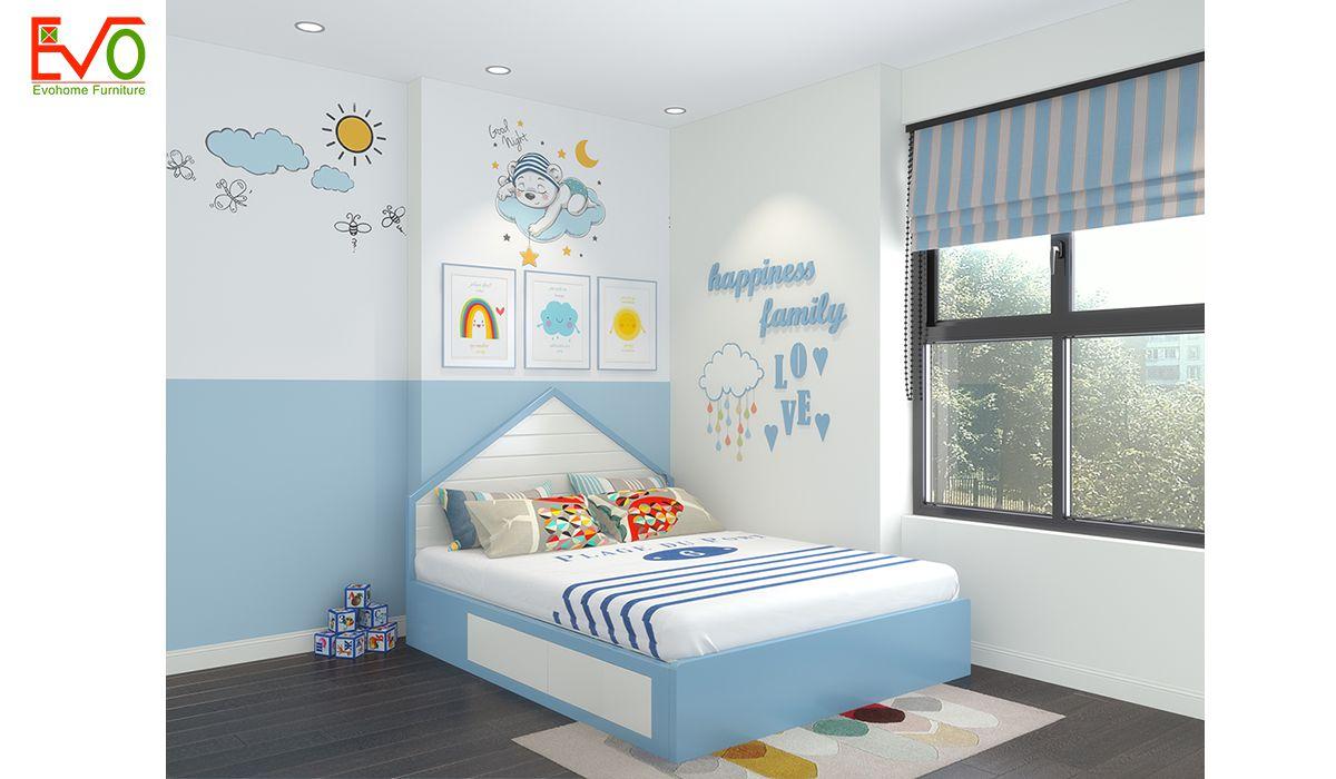 Thiết kế nội thất phòng ngủ con trai gỗ công nghiệp 2
