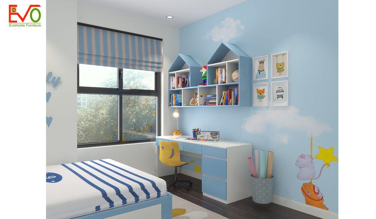 Thiết kế nội thất phòng ngủ con trai gỗ công nghiệp 3