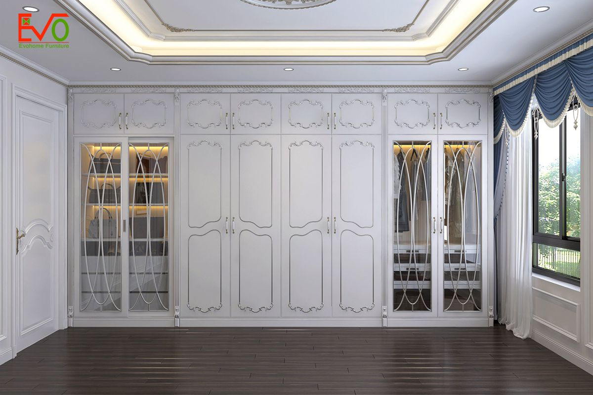 thiết kế nội thất phòng ngủ nhà phố 156 lacasta Văn Phú phong cách cổ điển 02
