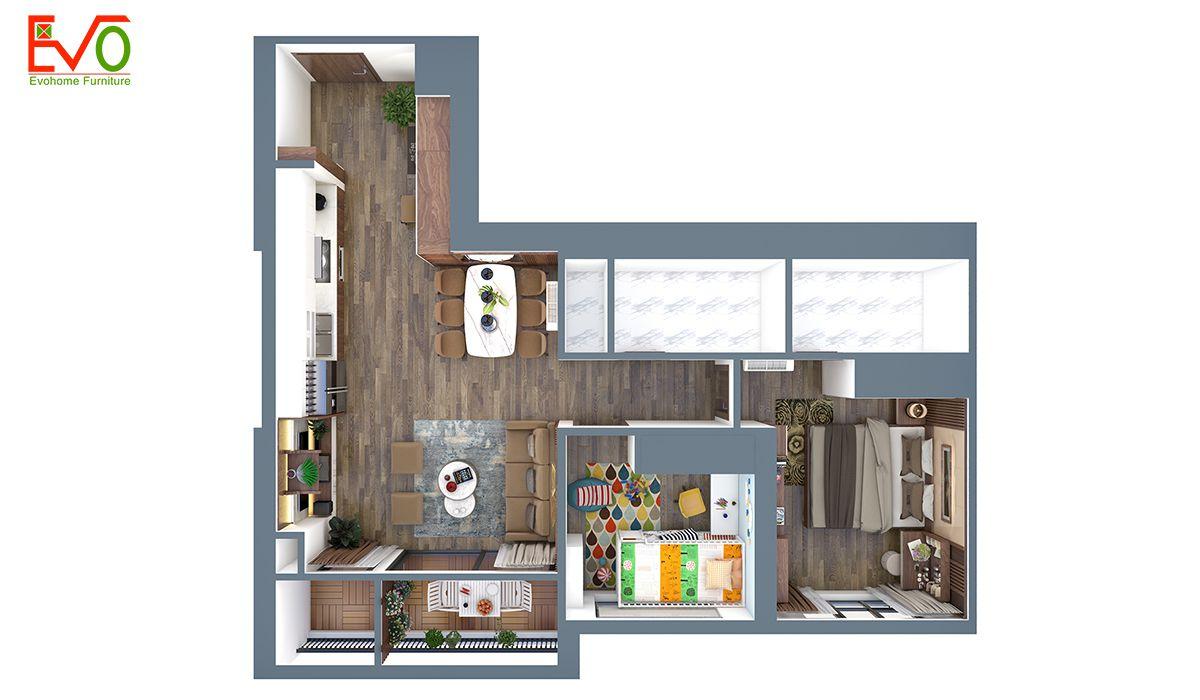 Thiết kế nội thất chung cư vinhomes bắc ninh 01
