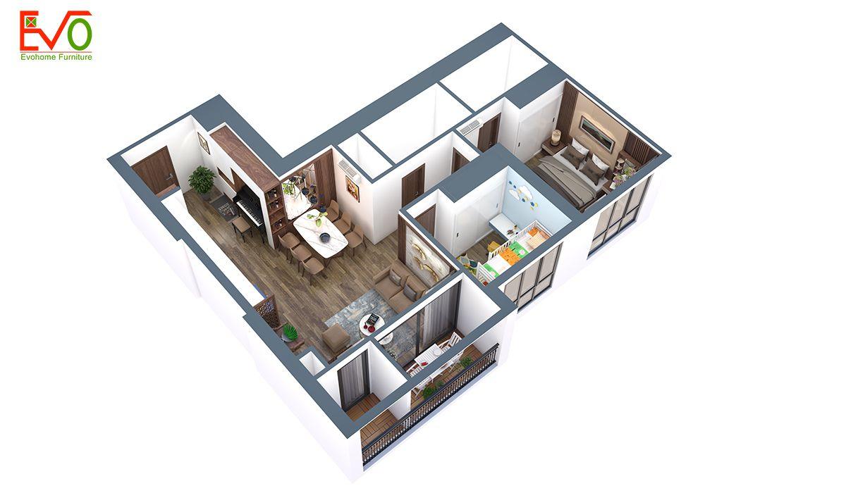 Thiết kế nội thất chung cư vinhomes bắc ninh 01 2