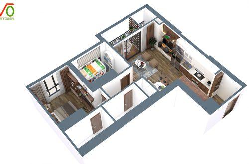 Thiết kế nội thất chung cư vinhomes bắc ninh 01 3
