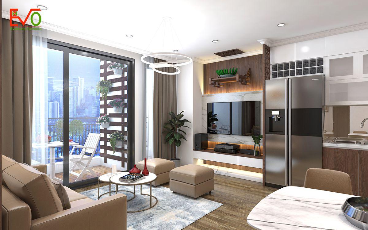 Thiết kế nội thất phòng khách sang trọng, lịch sự 2