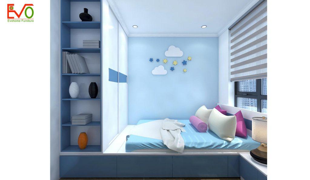 Giải pháp thiết kế nội thất phòng ngủ cho 2 bé diện tích nhỏ - Tiện nghi, thông thoáng5
