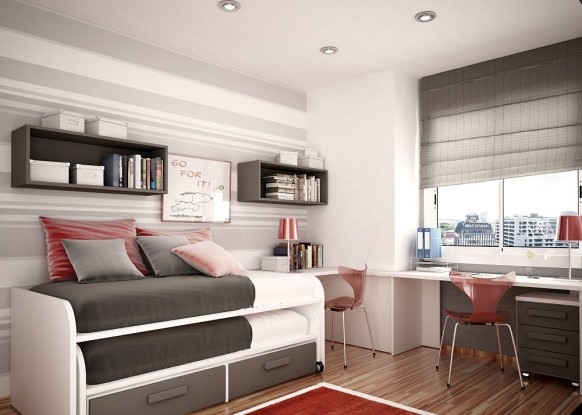 Giải pháp thiết kế nội thất phòng ngủ cho 2 bé diện tích nhỏ - Tiện nghi, thông thoáng2